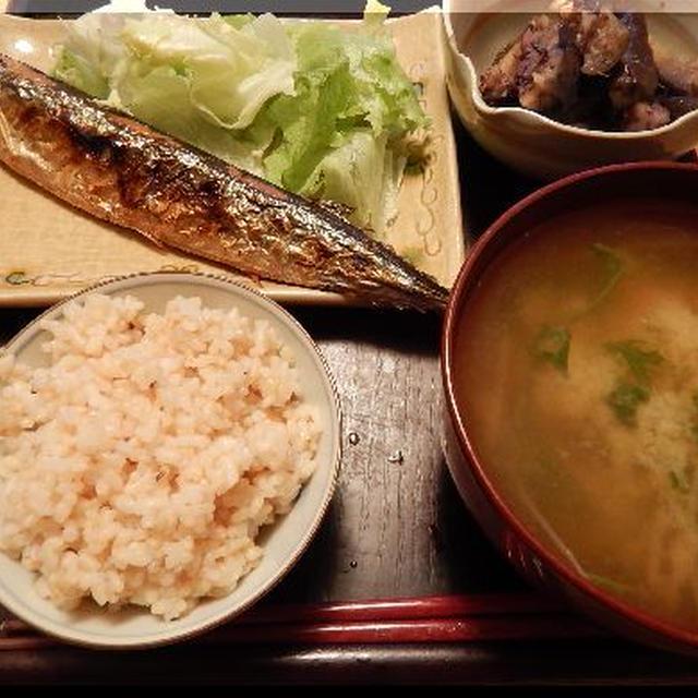 秋刀魚で朝食~秋ですねー!