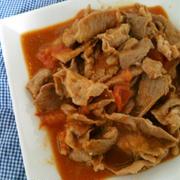焼き肉のタレで簡単♪豚トマ炒め~☆