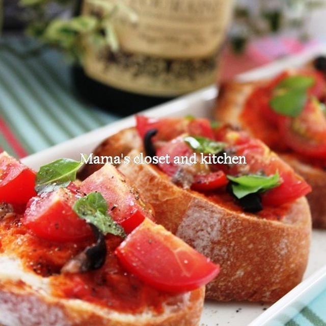 トマトとアンチョビのトースト