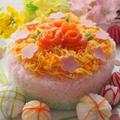 ひな祭り♪ ひし餅風3色お寿司ケーキ
