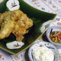 熱々!牡蠣フライを2種類のソースで。