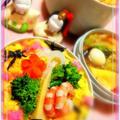 ランチジャーでひな祭り弁当 by カモミールさん