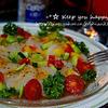 +*夏野菜とホタテのカルパッチョ+*