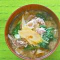 疲労回復ご飯は、、具沢山でボリューム満点だけどサッパリ食べやすいセロリとレタスの豚汁。