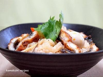 保温調理鍋で「鰻のせ炊き込みご飯」&「すき焼きの残りで焼きうどん的なものを・・・」
