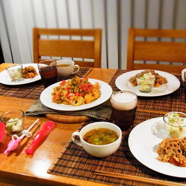 海苔とレンコンとえびの炊き込みご飯♬夏味ポテトサラダ