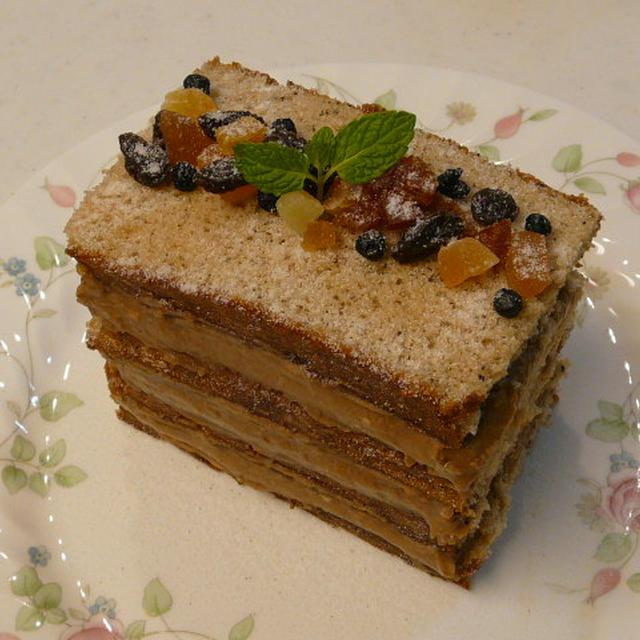 紅茶のカスタードクリームケーキ