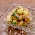 大豆とりんごのツナマリネ