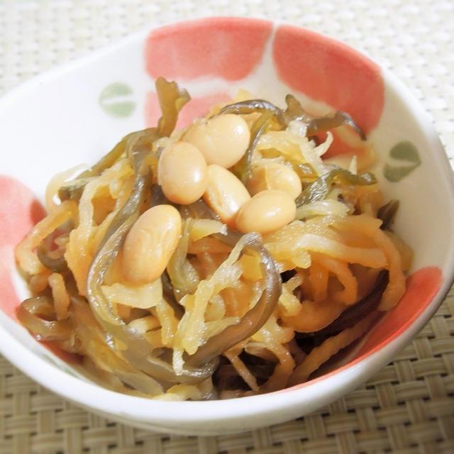 ◇【1月度小鉢MVP】切干大根と大豆・茎わかめの煮物