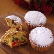 ホットケーキミックス(HM)でつくる♪ふわふわカップケーキのクリスマスシュトーレン(シュトレン)