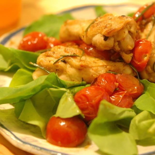 チキンとトマトのローズマリーガーリック