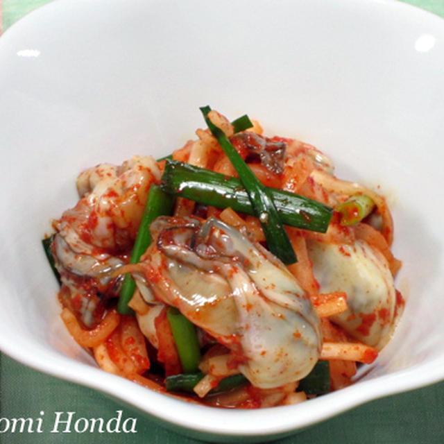【レシピ】牡蠣の和え物(クルムチム)