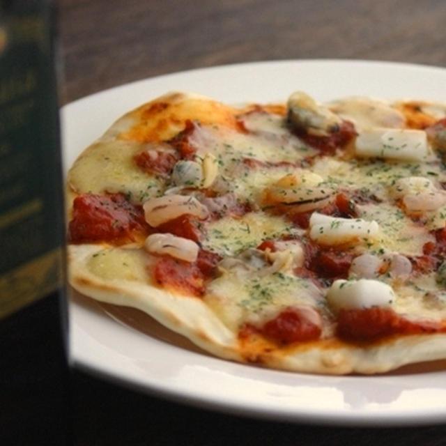 フライパンでクリスピーピザ2、マリナーラ。