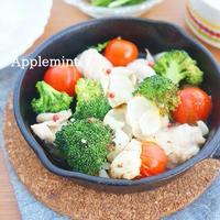 【スパイス大使】ピンクペパーで華やか♪鶏肉とゆり根のオーブン焼き(ぎゅうぎゅう焼き)