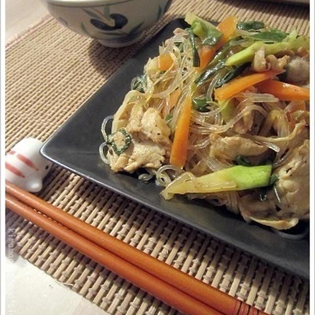 簡単☆焼肉のタレで具だくさんチャプチェ!作りおきでお弁当のおかずにも最適シリーズ。