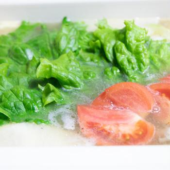 【簡単レシピ】シャキシャキレタスのレモン鍋