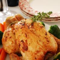 クリスマスにローストチキンを作ろう!「ハーブとみかん風味のガーリックローストチキン」