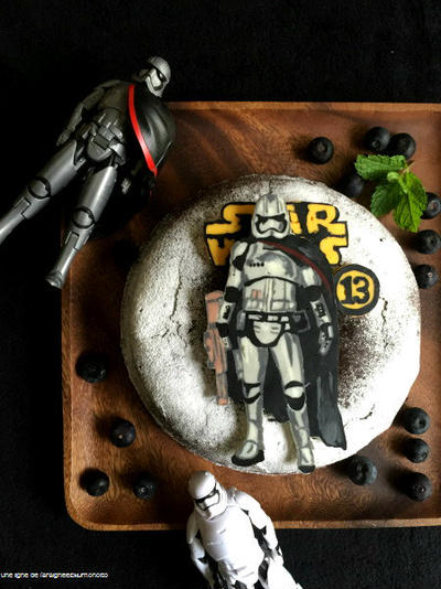 "Birthday cake ""Captain Phasma"" for daughter 2016."
