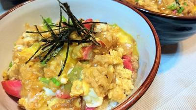 【レシピ】リメイク★親子丼★アレンジ第4段【揚げ玉の玉子丼】