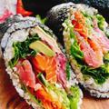 【恵方巻きに】海鮮太巻き!寿司ブリトーの作り方(動画レシピ)