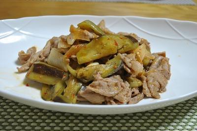 豚肉とナスのピリ辛オイスターソース炒め