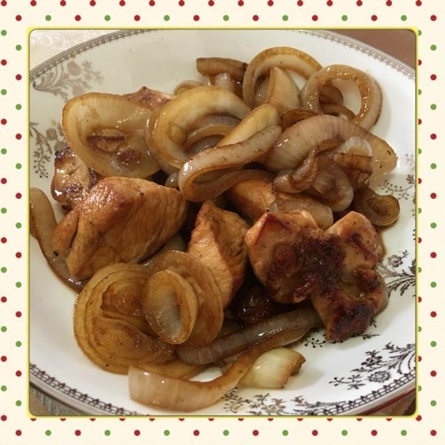鶏肉と玉ねぎの甘辛グリル(レシピ付)