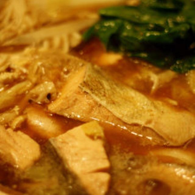鮭の胡麻味噌鍋