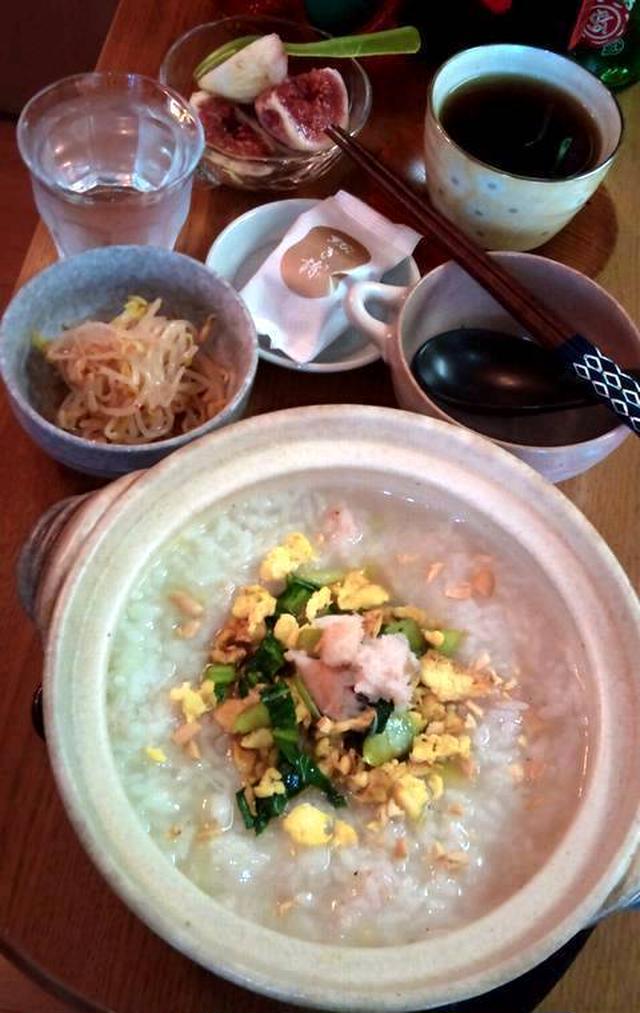 土鍋で中華粥