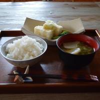 一汁一菜*カブのお味噌汁&揚げ出し豆腐