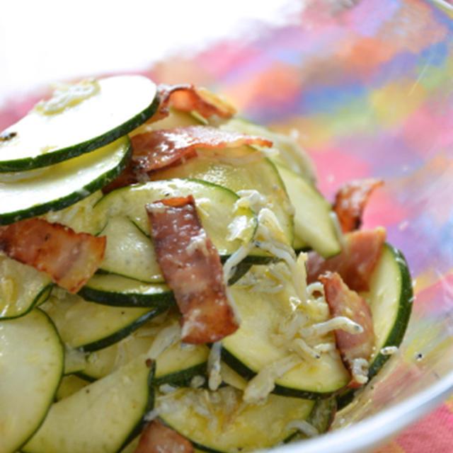 #377 生ズッキーニとシラスのサラダ
