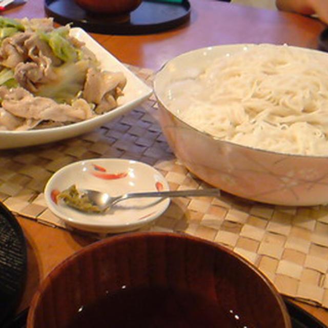 冷しゃぶ& 素麺。