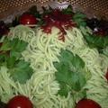 【レシピ】夏にサッパリ!海藻サラダのグリーン麺(^^♪