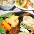 ■【ハロウィン仕様のハンバーグディナー】ハンバーグは肉の万世チルドギフトです。