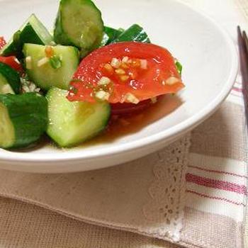 トマトときゅうりの香味サラダ
