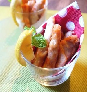 鶏むね肉で簡単!塩風味スティックフライ