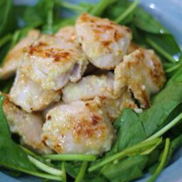 鶏むね肉の塩麴マリネ焼き