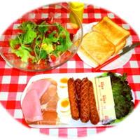 ガーリックブリッツでパニーニ風な朝ご飯