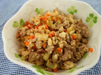 簡単美味しい常備菜♪ネギ豆腐そぼろ♪と息子の発熱。