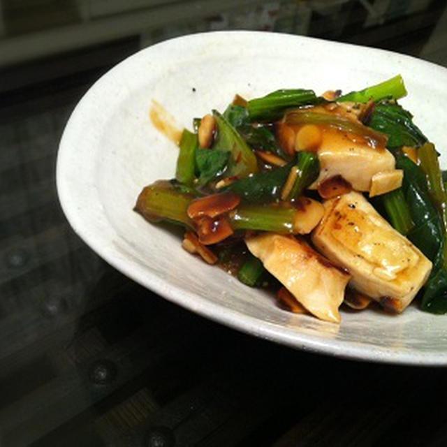 小松菜と鶏肉のあんかけ炒め