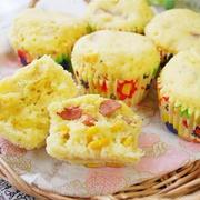 朝食やおやつにおすすめ♪レンジで作れるコーン蒸しパン