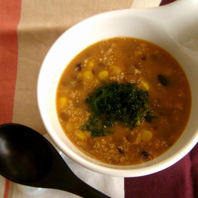 *レンズ豆とお豆腐のジンジャースープ