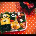 ハロウィン★簡単ドラキュラミニオンズキャラ弁
