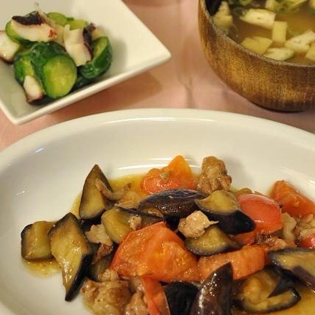 夏野菜と豚肉の炒め物