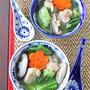 ぷるるん鶏肉とチンゲン菜のあったか中華塩スープ