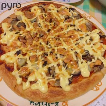お初☆キノコとじゃがいものピザ♪