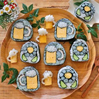 父の日に作ってあげよう~ビールの飾り巻き寿司~