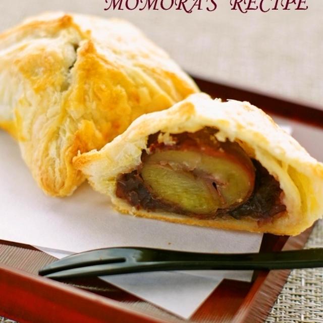 やっと作れた♡ストウブで栗の渋皮煮&パイシートで簡単お菓子♪渋皮煮と餡子の真ん丸パイ