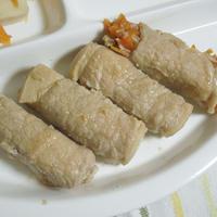 ◇しゃぶしゃぶ用豚肉De高野豆腐とにんじんの薄肉巻き
