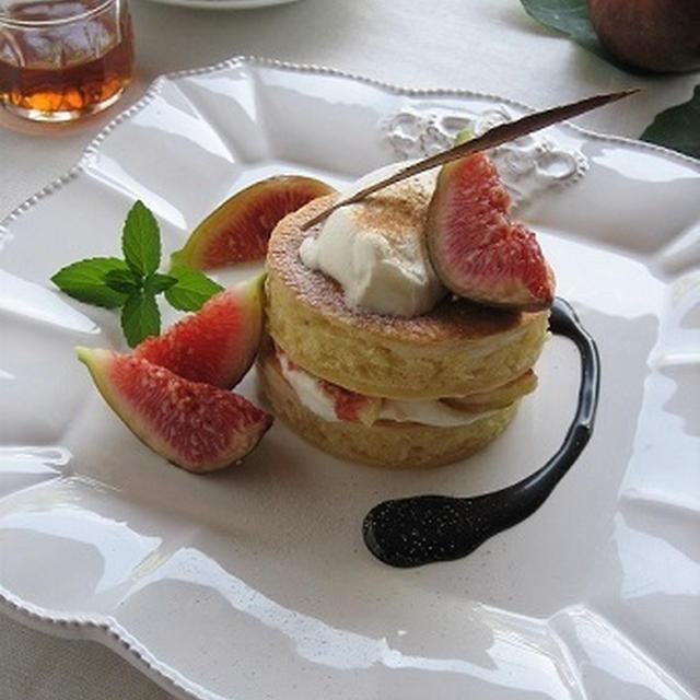 無花果&マスカルポーネのミニパンケーキ♪