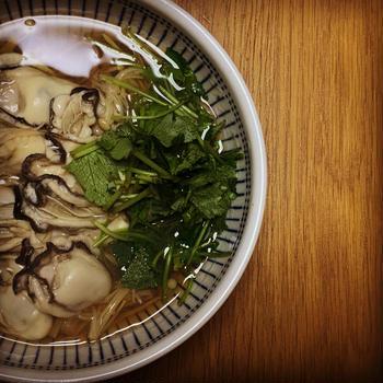 お店より美味しい『牡蠣蕎麦』。 料理研究家 指宿さゆり(いぶすきさゆり)